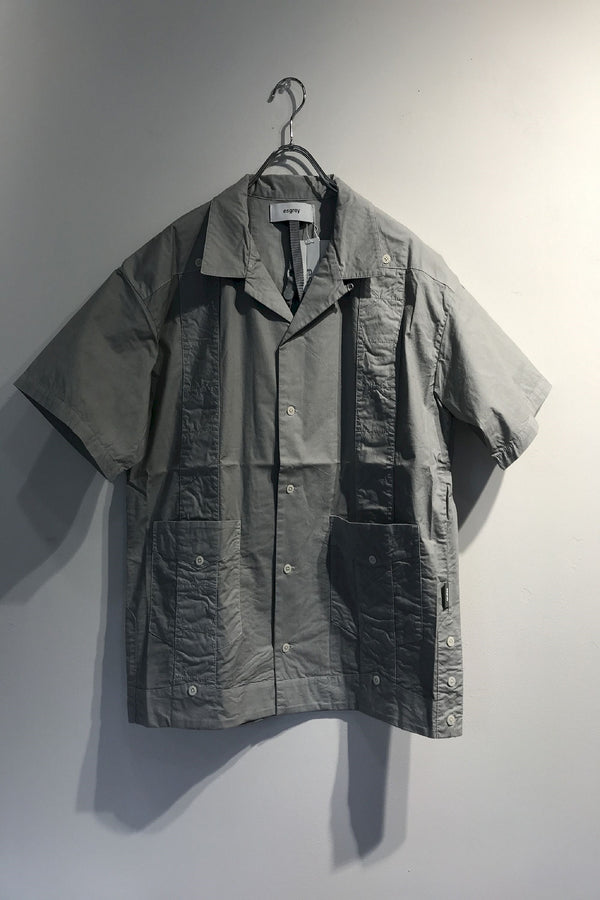 refined effect open collar shirts GREY