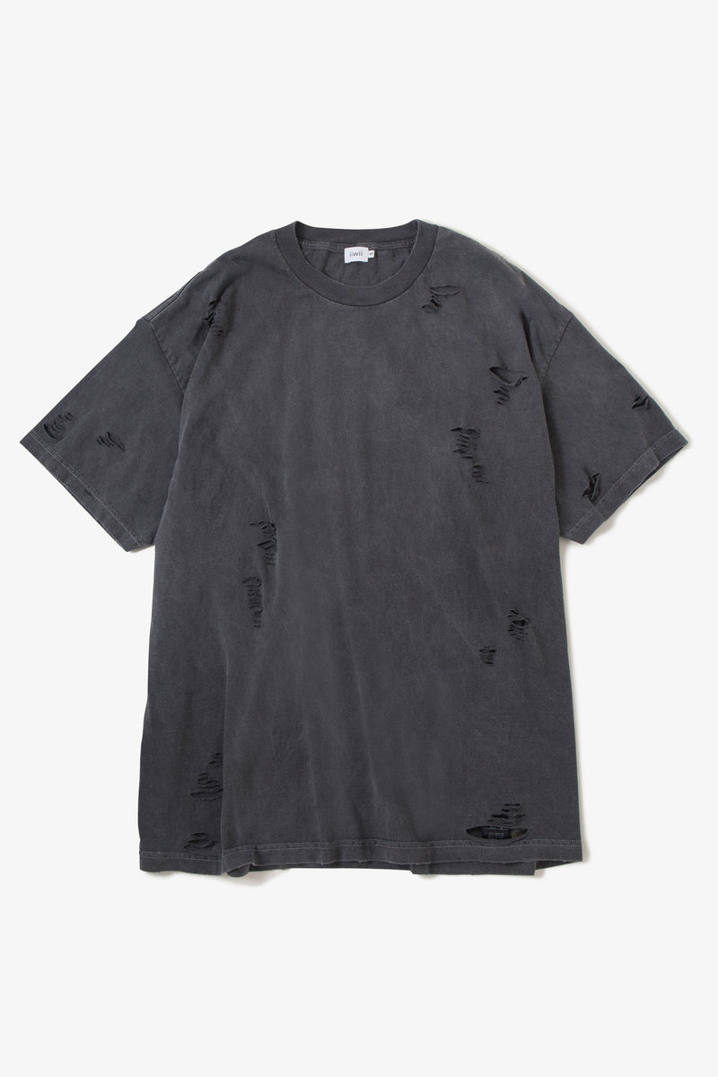 IIWII DAMAGE TEE BLACK