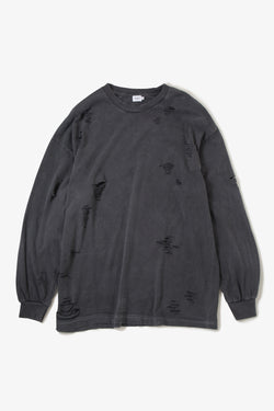 IIWII DAMAGE LS TEE BLACK