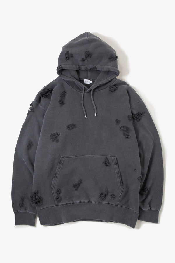 IIWII DAMAGE  PARKA BLACK