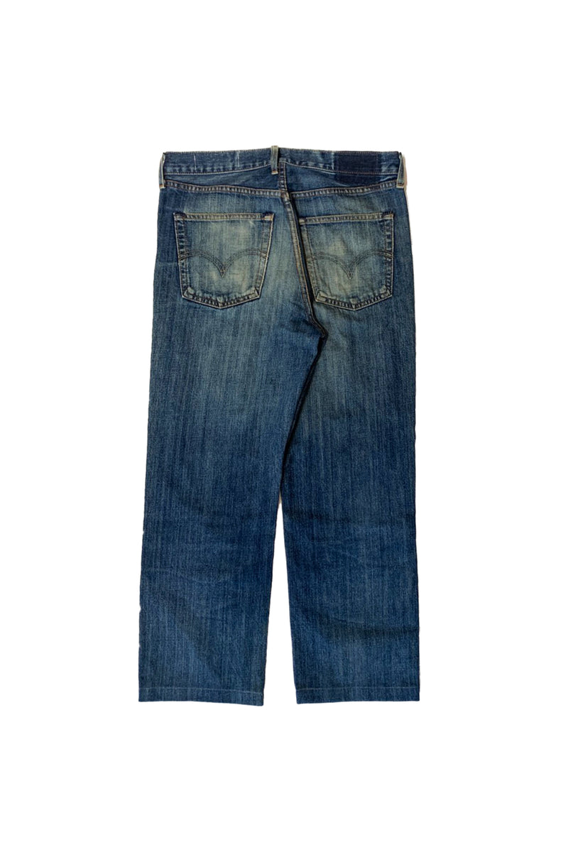 NY OLD PATCH DENIM PANTS LONG BLUE 03