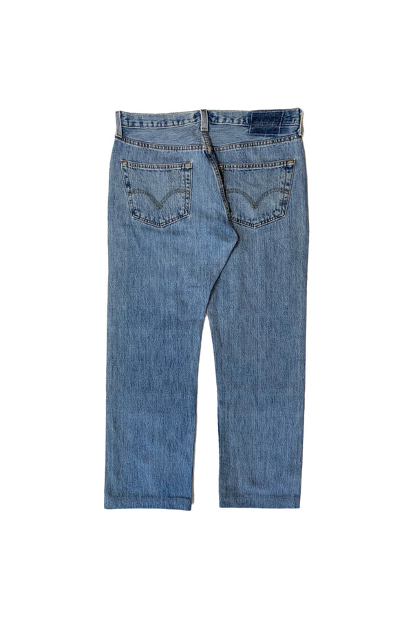 NY OLD PATCH DENIM PANTS LONG BLUE 02