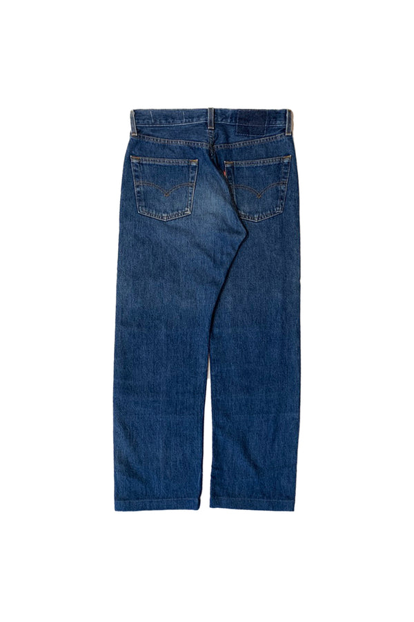 NY OLD PATCH DENIM PANTS LONG BLUE 01