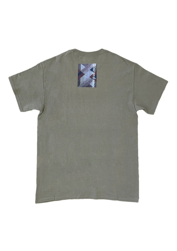 OIL PAINTING PRINT TEE GRAPHIC A-BEIGE