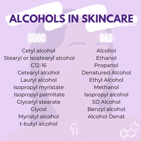 Good and Bad Alcohol infographic