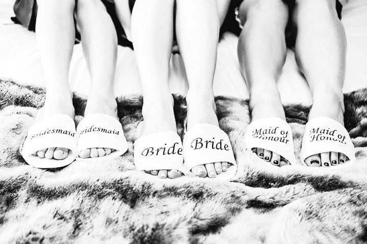 BRIDAL SLIPPERS GOLD WORDING