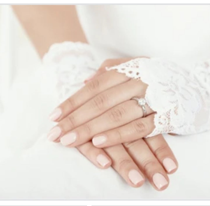 SHORT LACE GLOVES