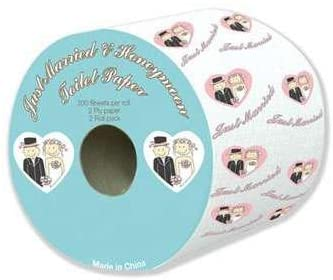 JUST MARRIED TOILET ROLLS