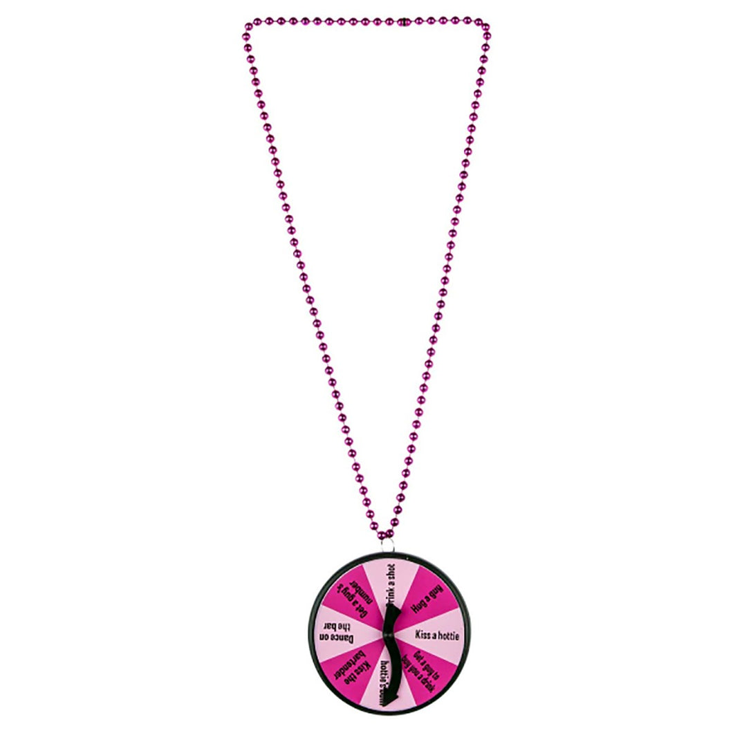 HENS NIGHT DARE SPINNER BADGE NECKLACE