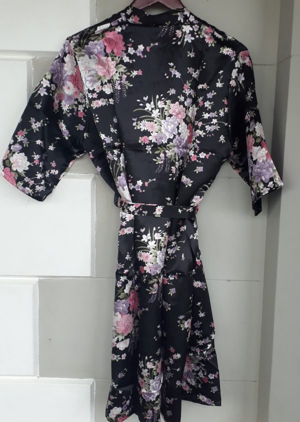 FLORAL SATIN DRESSING GOWNS