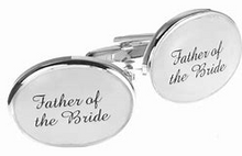 Load image into Gallery viewer, OVAL WEDDING CUFFLINKS