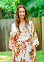 Load image into Gallery viewer, BOHO FLORAL SATIN GOWNS