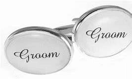 OVAL WEDDING CUFFLINKS