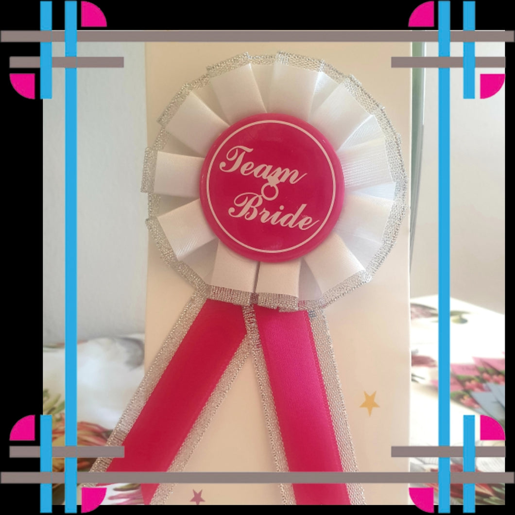 TEAM BRIDE ROSETTE BADGE