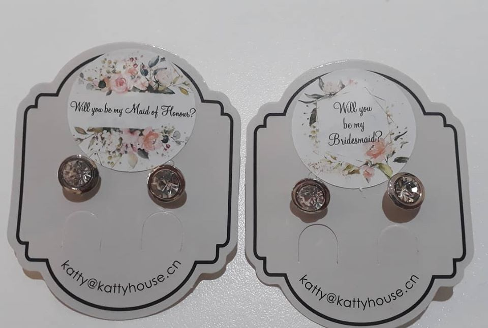 MAID OF HONOUR AND BRIDESMAID EARINGS
