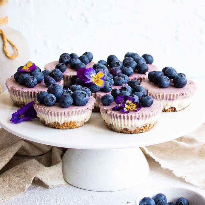 Raw Blueberry Cheesecakes - Brookfarm