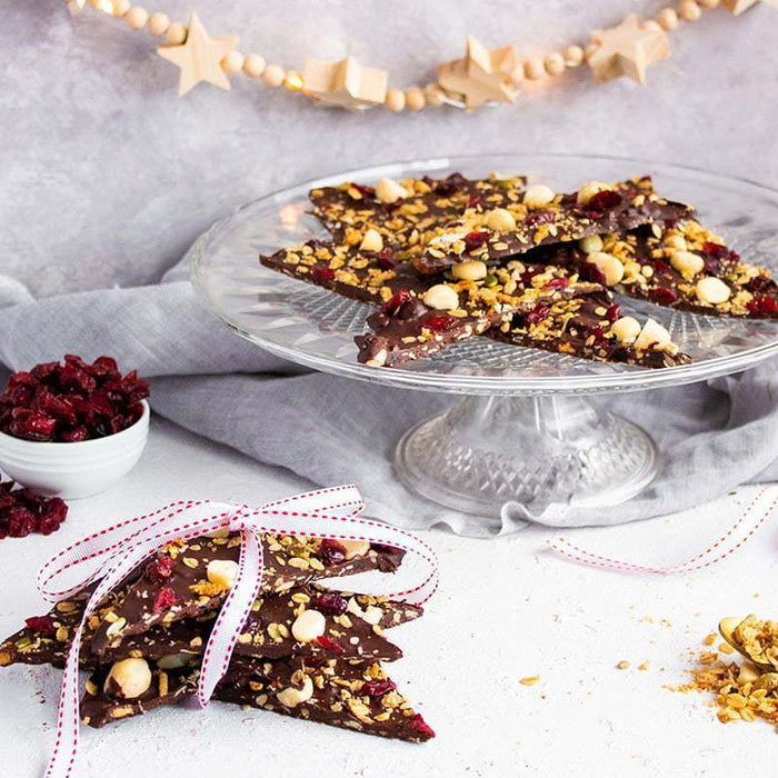 Festive Cranberry Macadamia Chocolate Bark - Brookfarm