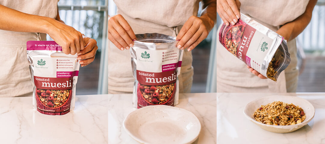 Brookfarm Toasted Muesli with Cranberry 1.5kg Sequence Shot