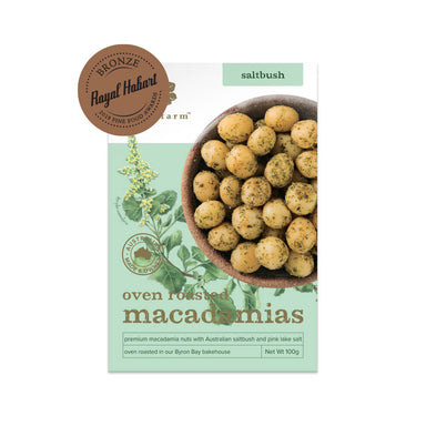 Premium Oven Roasted Whole Macadamias with Saltbush With Award
