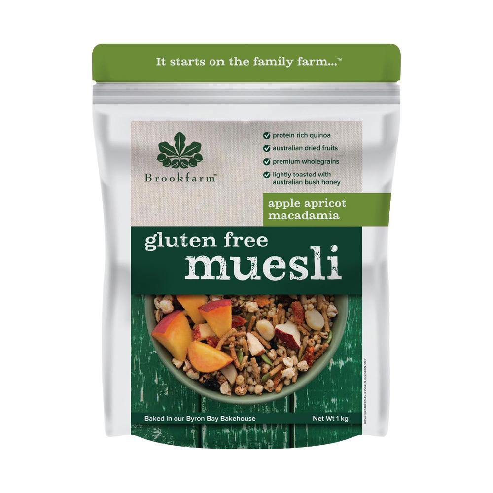 Gluten Free Macadamia Muesli with Apple & Apricot - Brookfarm