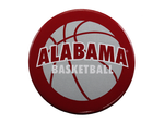 Alabama Basketball on a Crimson Button