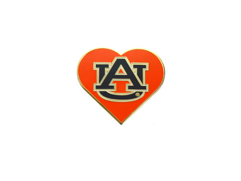 AU Orange Heart Lapel Pin