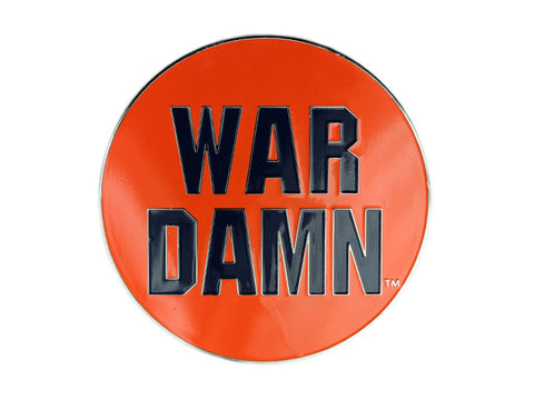 "AU 2"" Orange War Damn pin (AULP23)"