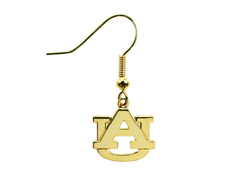 AU Logo Goldtone Dangle Earrings