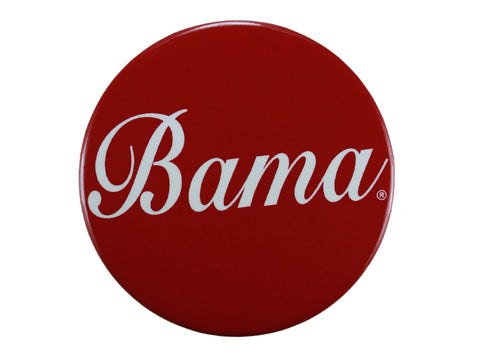 """Bama"" Script on a Crimson Button"