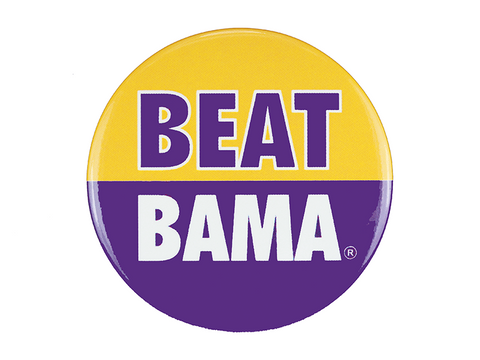 "LSU ""Beat Bama"" Button"