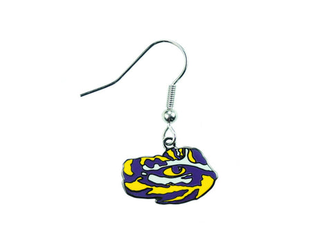 LSU Tiger Eye Dangle Earrings