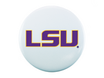 LSU Logo, White Button