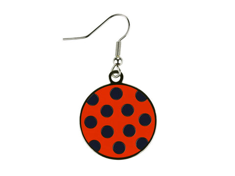 Polka Dot Orange and Navy Dangle (PDDEO/N)
