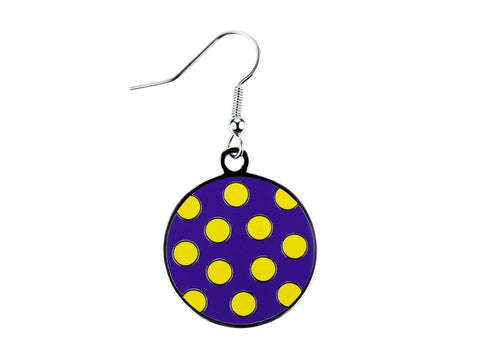 Polka Dot Purple & Yellow Dangle (PYPDDE)