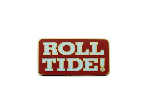 Alabama Roll Tide Crimson Lapel Pin