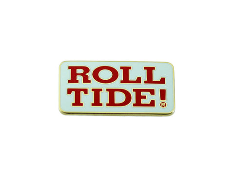 Alabama Roll Tide White Lapel Pin