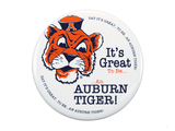 "AU Vault Tiger, ""It's Great to Be"" White Button"