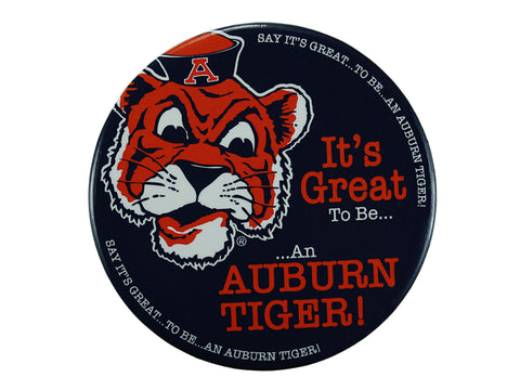 "AU Vault Tiger, ""It's Great to Be"" Navy Button"