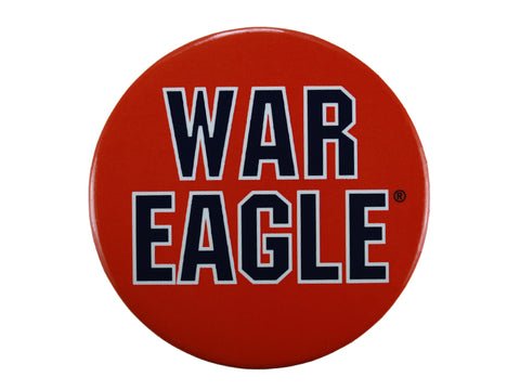 "AU ""War Eagle"" Orange Button"