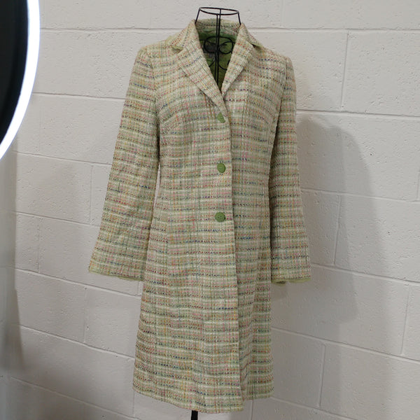 M&S Spring Green Long Coat UK10