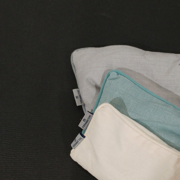 Organic Cotton Eye Pillow With Zip Up Cover