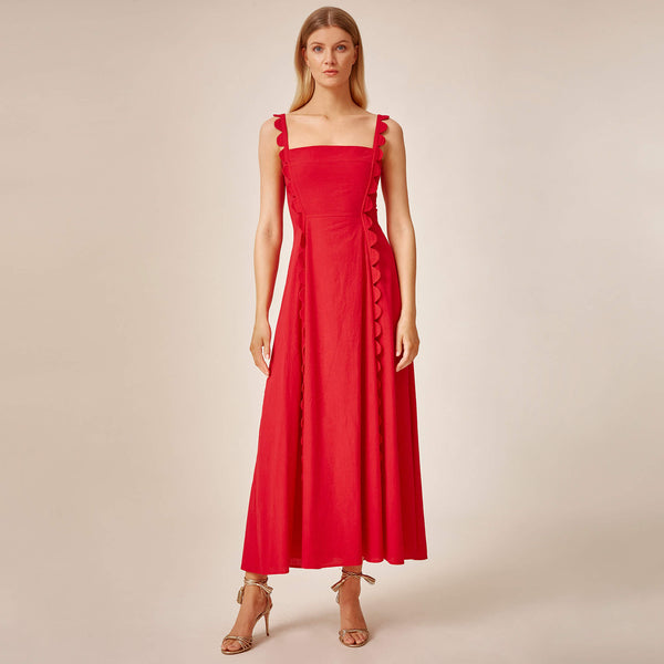 Apron Dress (Red)