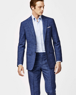 Load image into Gallery viewer, Sky/Navy Houndstooth Suit