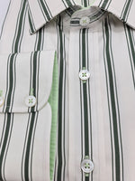 Load image into Gallery viewer, Green & White Double Striped Shirt