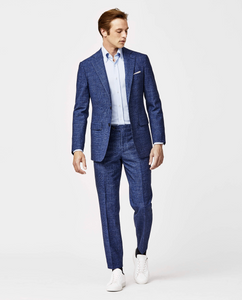 Sky/Navy Houndstooth Suit