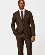 Load image into Gallery viewer, Brown Wool Weave Suit