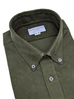 Load image into Gallery viewer, Olive Green Fine Corduroy Shirt