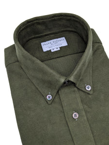 Olive Green Fine Corduroy Shirt