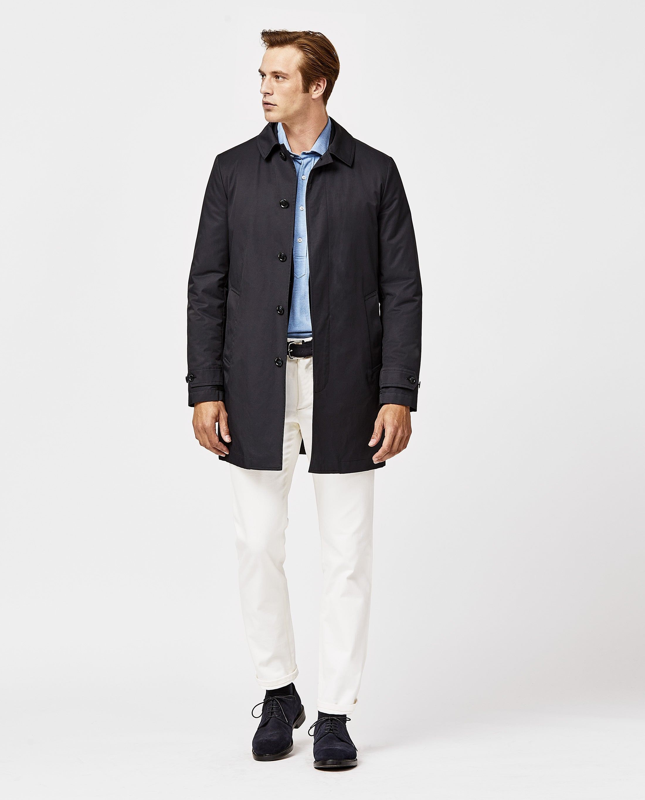 Navy Waterproof Car Coat
