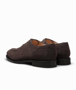 Suede Plain Tip Blucher Shoe